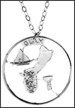 Guam Cut-Out Coin Necklace