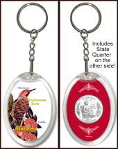 Alabama - State Bird & Flower Keychain