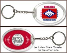 Arkansas - State Flag Keychain