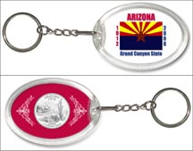Arizona State Flag Keychain
