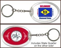 Delaware - State Flag Keychain