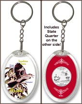 Florida - State Bird & Flower Keychain