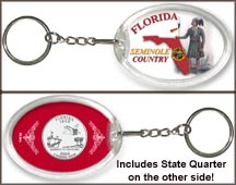 Florida - Seminole Country Keychain