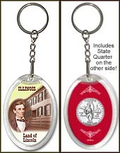 Illinois - Land of Lincoln Keychain
