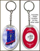 Indiana - Proud to be a Hoosier Keychain