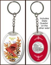Kentucky - State Bird & Flower Keychain