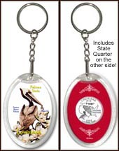 Louisiana - State Bird & Flower Keychain