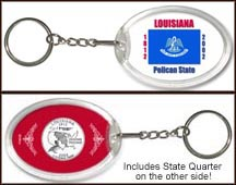 Louisiana - State Flag Keychain