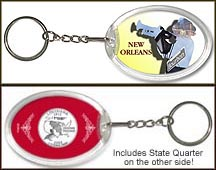 Louisiana - New Orleans Jazz Keychain