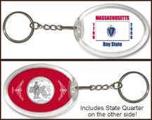 Massachusetts - State Flag Keychain