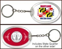 Maryland - State Flag Keychain