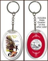 Maine - State Bird & Flower Keychain