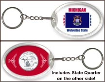 Michigan - State Flag Keychain