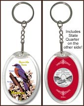 Missouri - State Bird & Flower Keychain