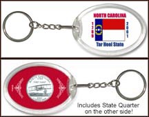 North Carolina - State Flag Keychain