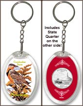 Nebraska - State Bird & Flower Keychain