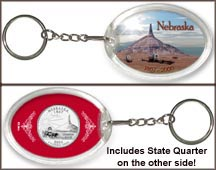 Nebraska - Chimney Rock Keychain