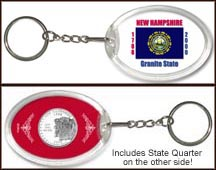 New Hampshire - State Flag Keychain