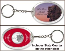 New Hampshire - Old Man of the Mountain Keychain