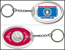 Northern Mariana Islands Flag Keychain