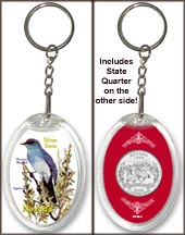 Nevada - State Bird & Flower Keychain