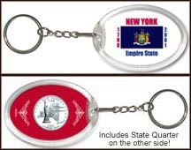 New York - State Flag Keychain