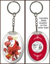Ohio - State Bird & Flower Keychain