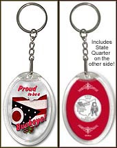 Ohio - Proud to be a Buckeye Keychain