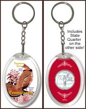 Pennsylvania - State Bird & Flower Keychain