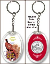 South Dakota - State Bird & Flower Keychain