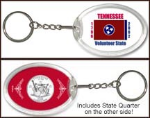 Tennessee - State Flag Keychain