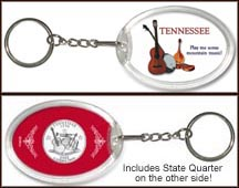 Tennessee - Mountain Music Keychain