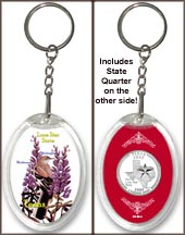 Texas - State Bird & Flower Keychain