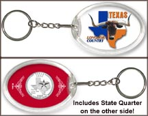 Texas - Longhorn Country Keychain MAIN
