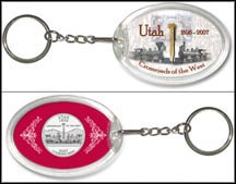 Utah - Crossroads Of The West Keychain