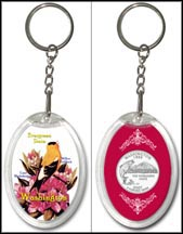 Washington - State Bird & Flower Keychain