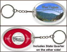 West Virginia - Mountaineers Keychain
