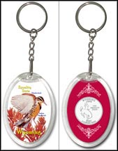 Wyoming - State Bird & Flower Keychain