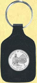 District of Columbia Quarter Leather Keyring