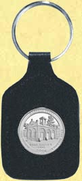 Harpers Ferry National Historical Park Quarter Leather Keyring