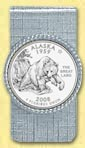 Alaska Quarter Money Clip
