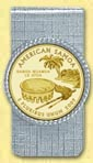 American Samoa Quarter Money Clip - with Gold Plated Territorial Quarter