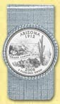 Arizona Quarter Money Clip