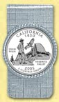 California Quarter Money Clip