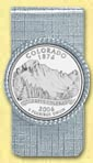 Colorado Quarter Money Clip