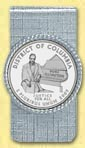 District of Columbia Quarter Money Clip