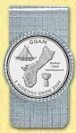 Guam Quarter Money Clip