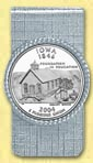 Iowa Quarter Money Clip