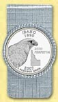 Idaho Quarter Money Clip