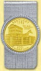 Kentucky Quarter Money Clip - with Gold Plated State Quarter